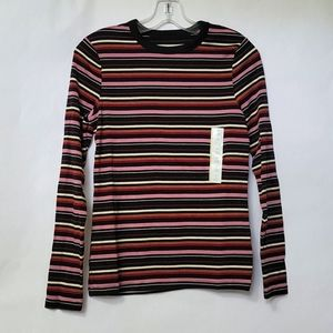 A New Day Women's Striped Long Sleeve Fitted Shirt